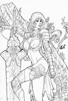 Warrior Woman - Dungeons and Dragons by LCFreitas