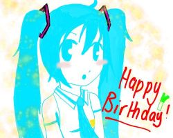 Happy Birthday Miku by Miku-Hagane