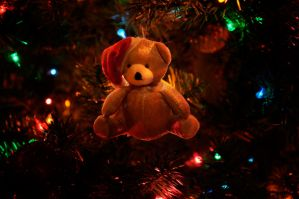 fuzzy bear Christmas by tinfire