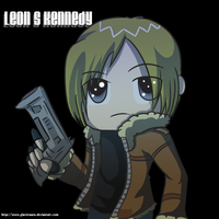 Leon S Kennedy Chibi by Roselinath
