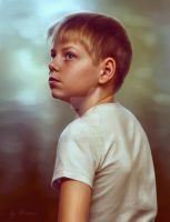 portrait of a boy by kirina66