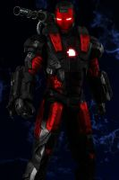 War Machine Red and Black Ipod Wallpaper by 666Darks