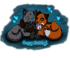 Happy B'day FoxyWolfGirl by Quiell