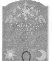 The Gravestone of Snow Drop by rjrgmc28