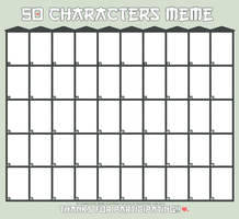 50 Characters | Meme by isi-a