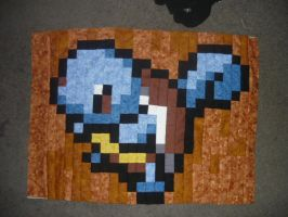 Squirtle quilt panel 4 of 6 by scilk