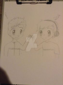 Pewdiepie and Tobuscus by pabism