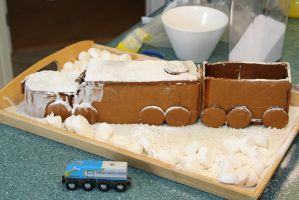 Gingerbread Train by 914four
