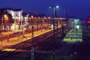 Railway at night by xfanaberia