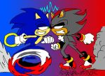 Sonic vs Shadow by hypothedragon