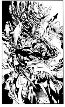Aquaman Cover 14 By Ivan Reis my  Inks Copy by LuisPuig