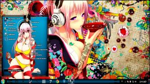 Thema windows7 Super Sonico by bir2d