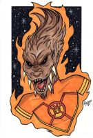 Larfleeze Headshot2 by RichBernatovech
