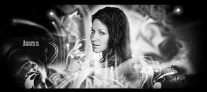 Evangeline Lilly black nd whit by javss