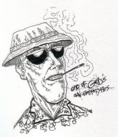 hunter s. thompson by mad-flavor