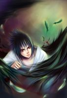 Sasuke__fallen angel by leejun35