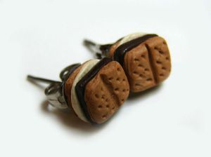 Smores Stud Earrings by yobanda