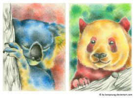 new colours for animals by LaNaYoung