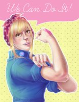 Lucy the Riveter by LiddoCait