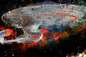 NCC-1701 D Starship Enterprise by j2Artist