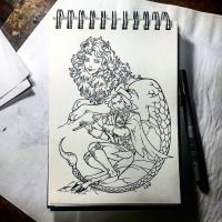 Instaart - Gaselli and Manticore by Candra