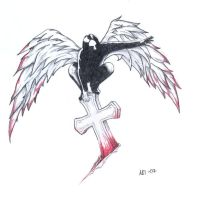 Dark angel tattoo design by POGOtheCLOWN