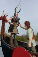 Dragons Cosplay: Dagur the Deranged and Hiccup by HicksBerlin