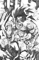 LOBO VS WOLVERINE by Sandoval-Art