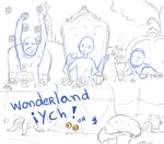 ych  [auction] - wonderfull tea party (CLOSED) by LobaMagica