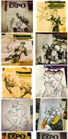 Amazing Arizona Comic Con Sketch Covers by KomicKarl