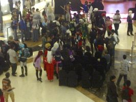 Cosplay in Lippo Mall lawl by abbey1010