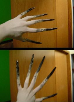 L4D Witch Cosplay, hand test by ParanoiaNinja
