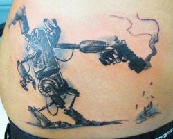 robot tattoo by ODIETATTOO