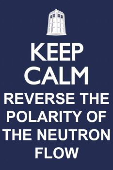 Doctor Who Keep Calm and Reverse the Polarity by FantasySciFiRealm