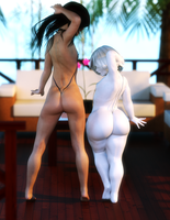 Beach Queens - Silk and Mercedes - Who's you like? by Rivaliant