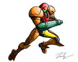 Speed Paint 07 - Samus Into Battle by Ein-Panda