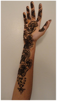Flower falls Henna by A-w0man