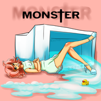 rubadubdub monster in the tub by MachoPie