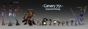 Canary 751 character lineup by jaunty-eyepatch
