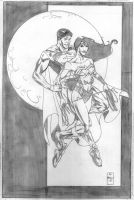 Wonder Woman and Superman by DrewEdwardJohnson