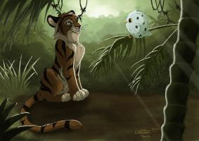 Tiger cub in jungle by ClaireLyxa