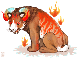 blazing ramtiger by emlan