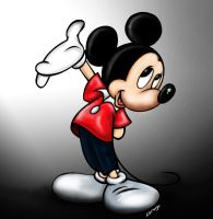 Mickey is Alone for Now by Cracuz