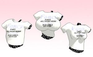 MMD  Fancy tshirt pack -Three sizes- -update- by amiamy111