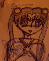 Sailormoon - Rough pen doodle. by Kittery