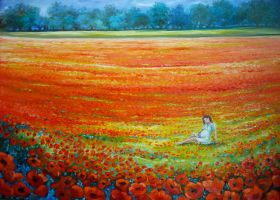 Maternity - poppies by daroitelisabetta