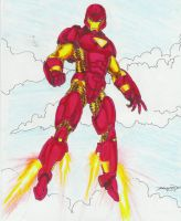 Iron Man in Crayola by -vassago-