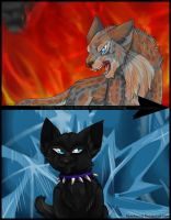 Scourge and Ashfur by NyraXerz
