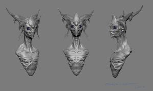 Alien Quick sculpt. by Primal-CH