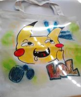 pikachu canvas bag by Lucora